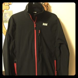 Helly Hansen Jacket. Black. Red trim. Men's Lg.